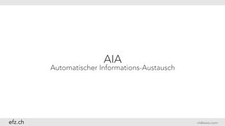 AIA - Automatischer Informations-Austausch